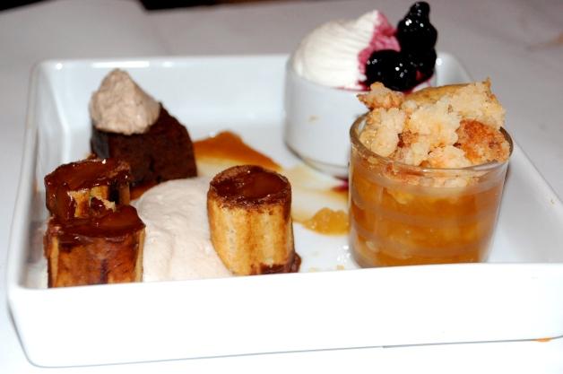 Surprise dessert tasting menu